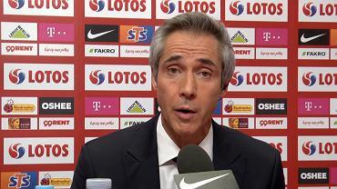Paulo Sousa na pierwszej konferencji jako trener reprezentacji Polski