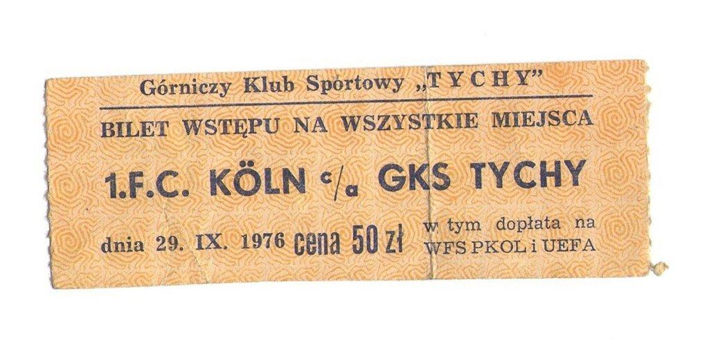 bilet z meczu Tychy - Koeln