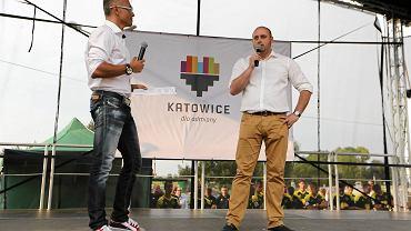 Wojciech Cygan podczas prezentacji GieKSy na Bugli