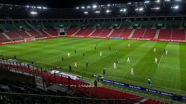 Pusty stadion podczas meczu GKS-u Tychy z Cracovią w PP