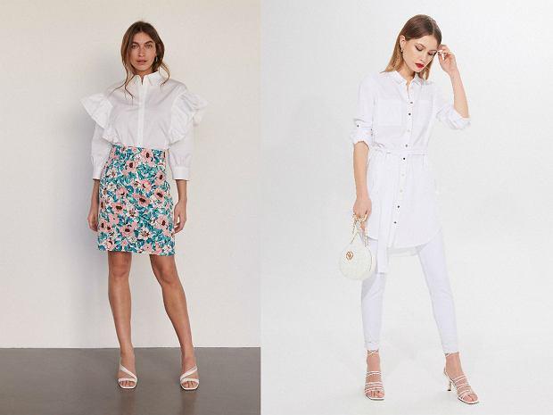 Biała koszula damska eleganckie stylizacje
