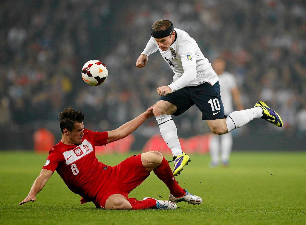 Grzegorz Krychowiak i Wayne Rooney