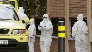 Pandemia koronawirusa. Służby sanitarne w Madrycie