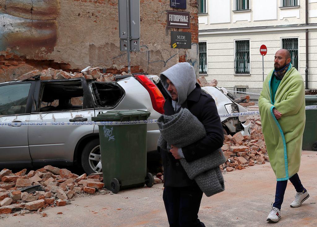 Skutki trzęsienia ziemi w Zagrzebiu, 22 marca 2020.