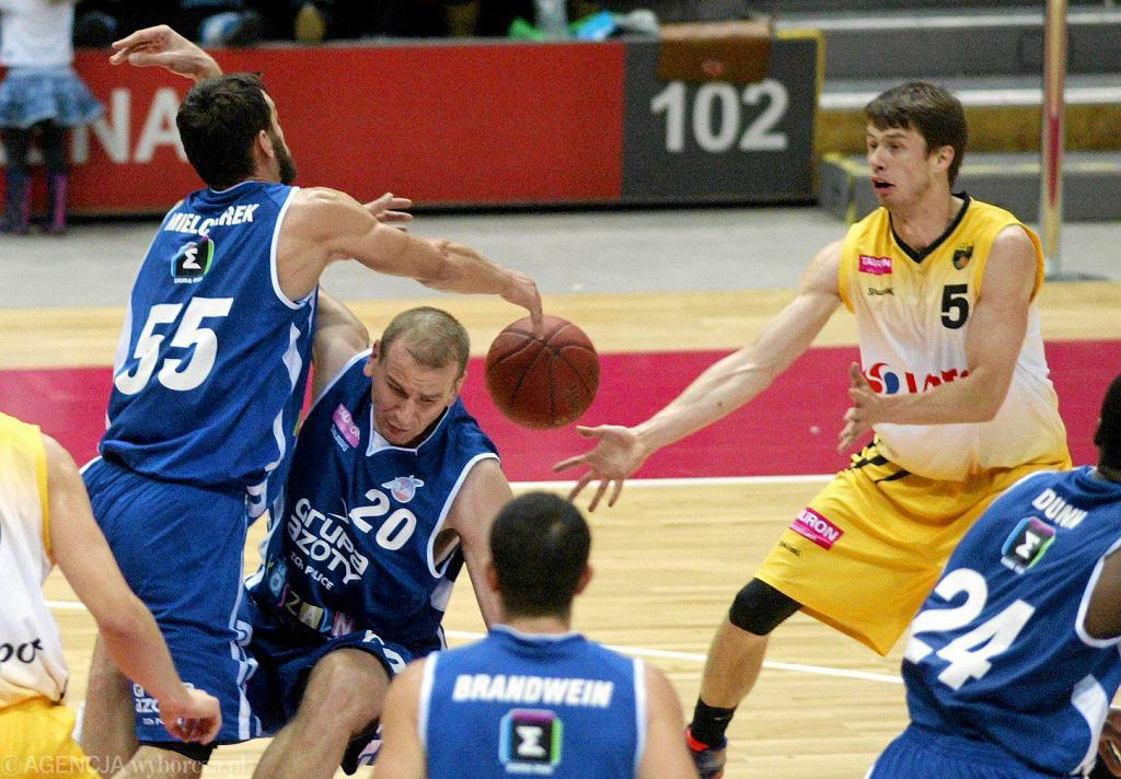 Koszalińscy koszykarze w meczu z Treflem Sopot