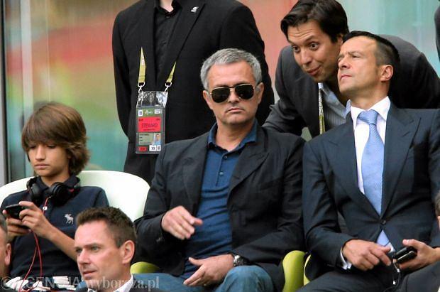 Jose Mourinho na trybunach PGE Areny