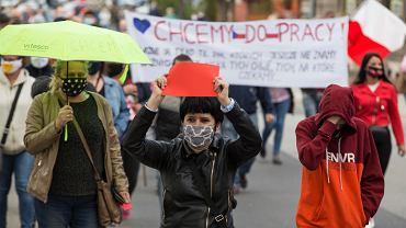 Protest w Cieszynie przeciwko zamknięciu granic