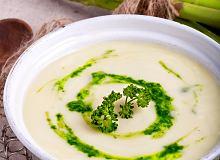 Zupa z białych szparagów z pesto pietruszkowym - ugotuj