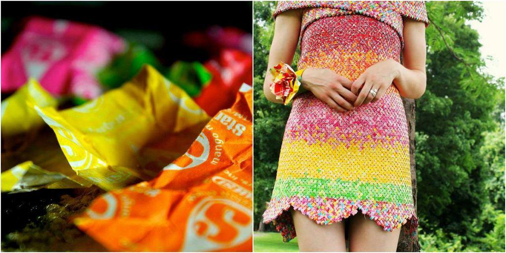 Papierkowa sukienka.