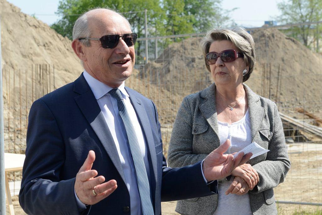 Irena Eris z mężem Henrykiem Orfingerem, właściciele firmy Dr Irena Eris