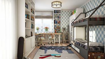 Łóżko piętrowe pozwala zaoszczędzić przestrzeń, dla dzieci jest także dodatkową atrakcją