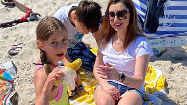Justyna Żyła z dziećmi