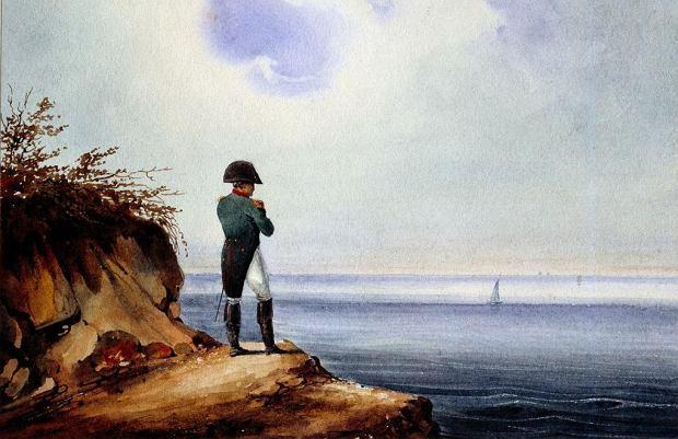 'Napoleon na Św. Helenie', obraz niemieckiego malarza Franza Josefa Sandmanna z ok. 1820 r.
