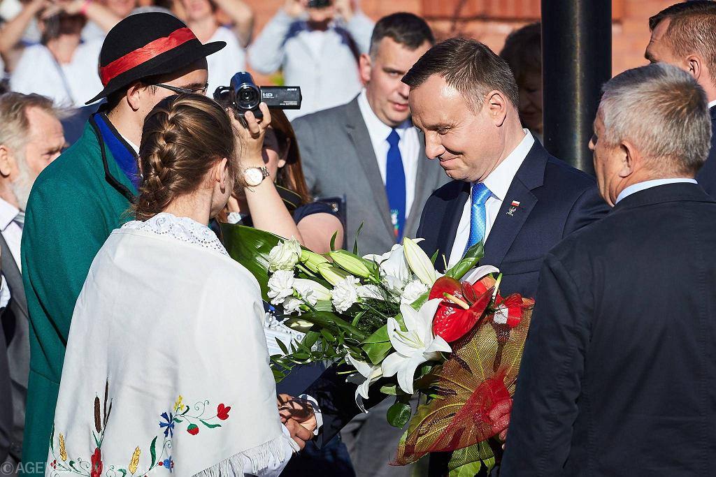 Prezydent Andrzej Duda na pomorskich Żuławach