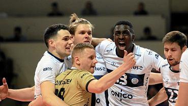 Onico Warszawa podczas trzeciego finałowego meczu Plus Ligi w Warszawie