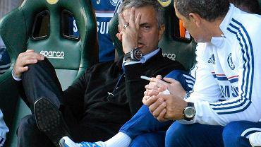 Jose Mourinho podczas meczu z Cardiff City