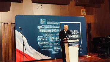 Jarosław Kaczyński w Sanoku