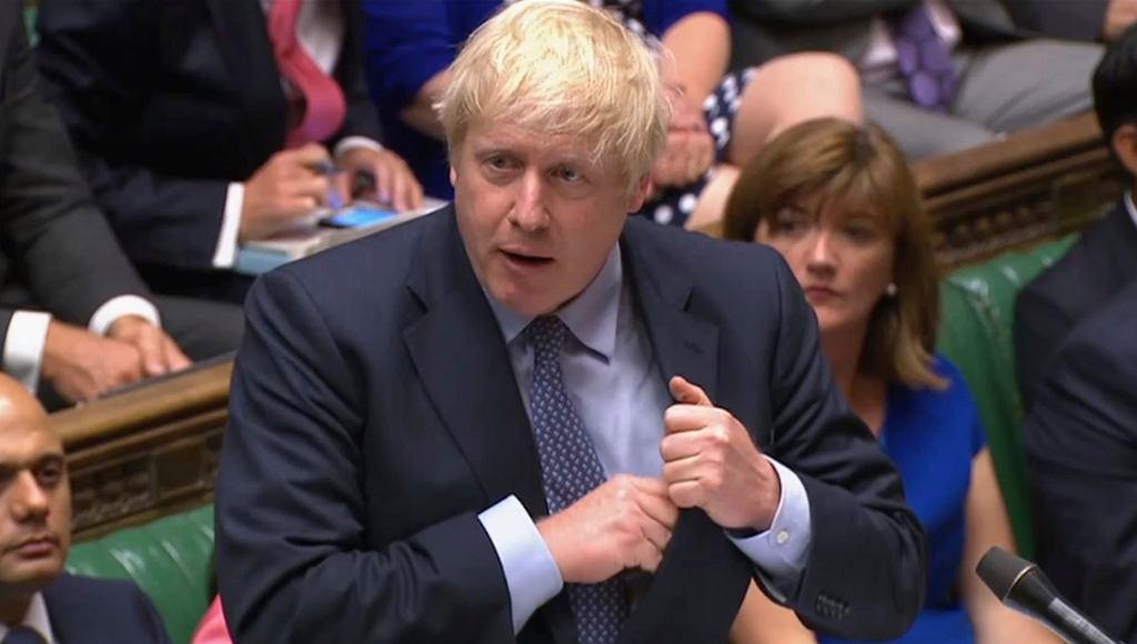 4.09.2019, Londyn, Boris Johnson w Izbie Gmin