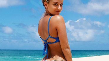Karina Irby, założycielka, dyrektorka i modelka we własnej firmie Moana Bikini, produkującej odważną modę plażową