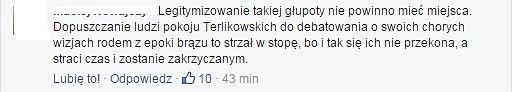 Komentarz na temat debaty 'Rolą kobiety jest prowadzenie domu' z udziałem Małgorzaty Terlikowskiej i Anny Dryjańskiej.