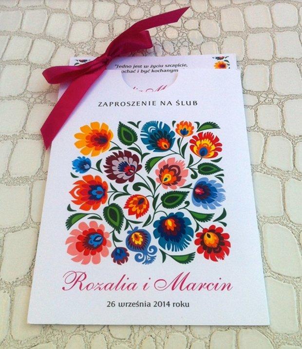 Zaproszenie na ślub Rozalii Mancewicz