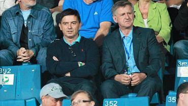 Waldemar Fornalik i Edward Lorens na meczu Ruchu z Legią (sierpień 2013)