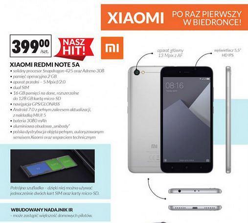 Xiaomi Redmi Note 5A w Biedronce