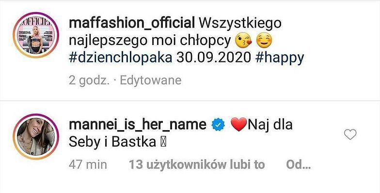 Maffashion - instagram, zrzut ekranu