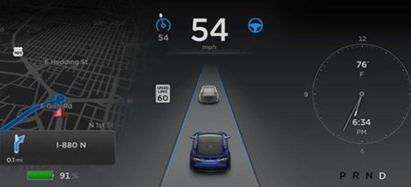 Autopilot - system montowany w samochodach Tesla potrafi dużo, ale nie można mu zaufać bezgranicznie