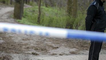 Policja zabezpiecza teren