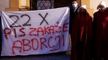 19.10.2020, Łódź, protest przed siedzibą PiS
