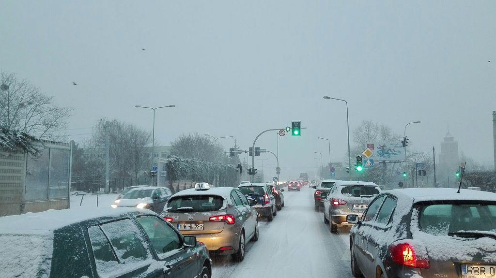 3 stycznia 2019 r. Ulice zasypane śniegiem