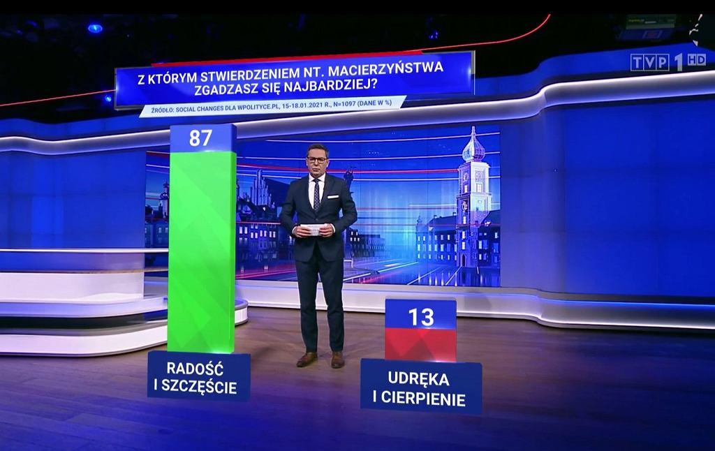 'Wiadomości' TVP, screen z TVP1