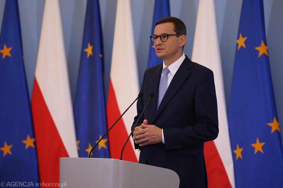 Konferencja prasowa premiera Morawieckiego, 26 sierpnia 2021 r.