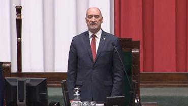 Marszałek senior Sejmu Antoni Macierewicz