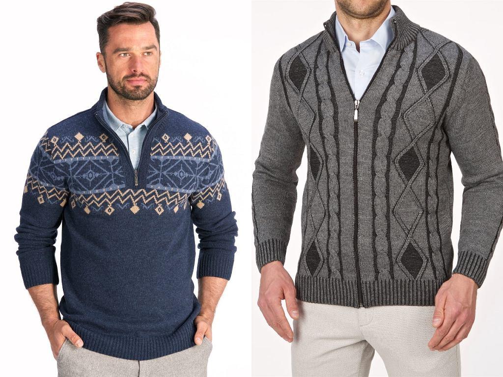 swetry męskie we wzory