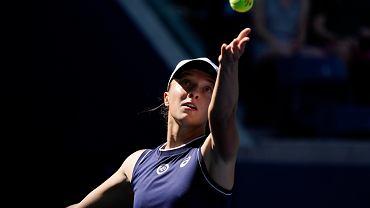 Iga Świątek w meczu z Belindą Bencic podczas US Open