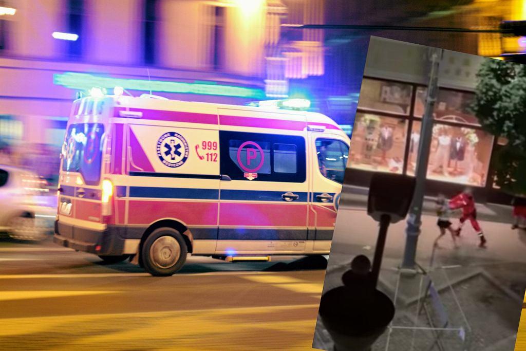 Poznań. Bójka z udziałem ratownika medycznego. Kobieta rzuciła w medyka butelką [WIDEO]