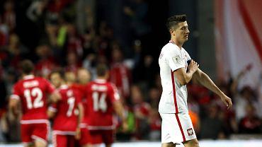 Dania - Polska 4:0. Robert Lewandowski