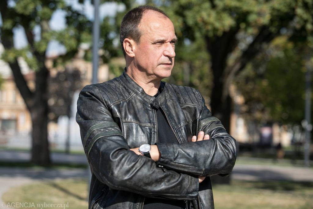 14.09.2019 Lublin , Plac Litewski . Paweł Kukiz przed konferencja prasowa koalicji partii PSL i Kukiz ` 15 .