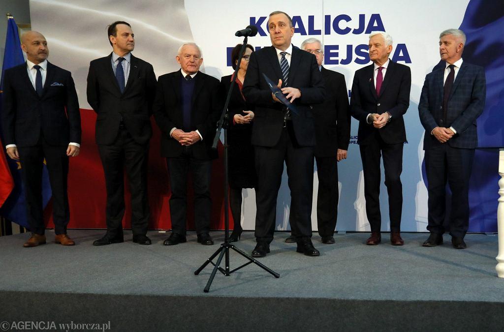 Konferencja prasowa Koalicji Europejskiej w sprawie wyborów do PE