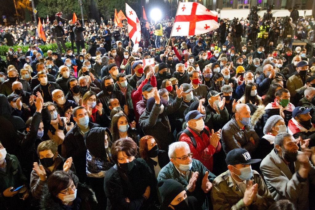 Protesty w Gruzji 8 listopada