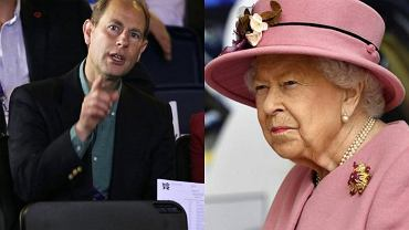 Królowa Elżbieta II, książę Edward