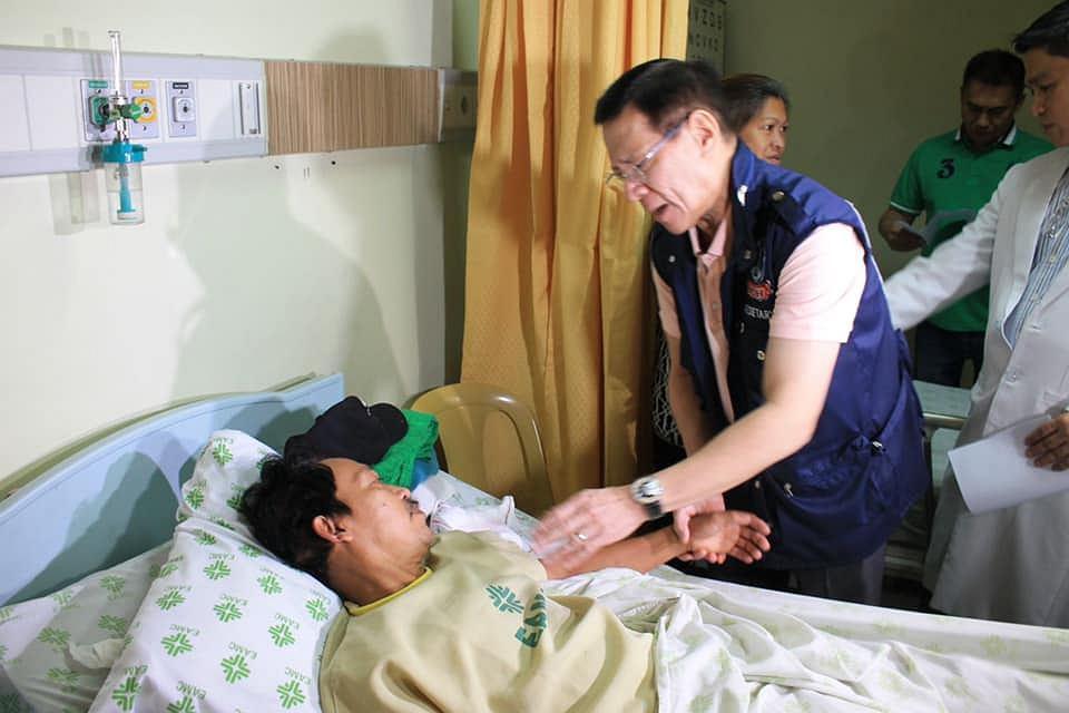 Wizyta ministra zdrowia u pacjentów