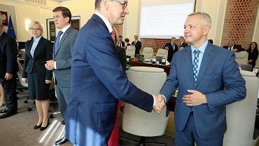 Premier Mateusz Morawiecki i minister cyfryzacji Marek Zagórski