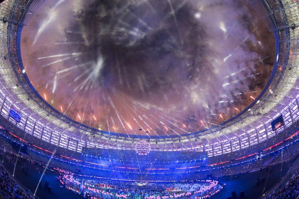 Igrzyska Europejskie Baku 2015, ceremonia zamknięcia. Pokaz fajerwerków