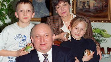Józef Oleksy z rodziną