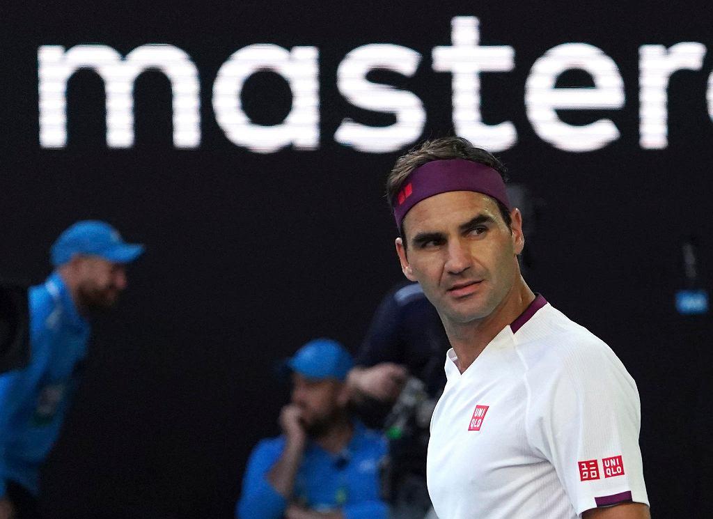 Australian Open 2020. Roger Federer w meczu z Tennysem Sandgrenem