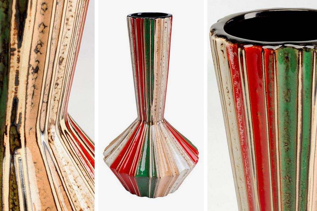 Kolorowy wazon dekoracyjny z ceramiki Jolly.