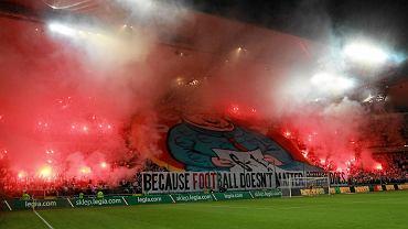 Oprawa podczas meczu Legii Warszawa z FK Aktobe